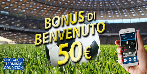 Bonus benvenuto 50 Euro