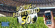 BONUS DI BENVENUTO 50€ - clicca per termini e condizioni